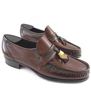 New Florsheim Mens 9 Narrow EU 42 Burgundy Loafers